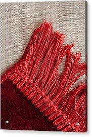 Red Rug Acrylic Print by Tom Gowanlock