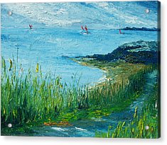 Red Sails In Galway Bay Acrylic Print