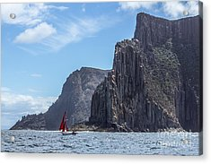 Acrylic Print featuring the photograph Red Sails by Jola Martysz