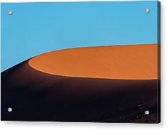 Red Sand Dune And Blue Sky, Namibia Acrylic Print by Paranyu Pithayarungsarit