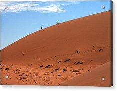 Red Sand Dunes Acrylic Print by Aidan Moran
