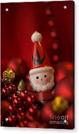 Red Santa Acrylic Print by Anne Gilbert