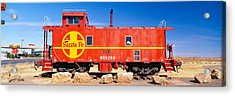 Red Santa Fe Caboose, Arizona Acrylic Print by Panoramic Images