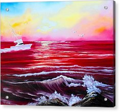 Red Seas Acrylic Print