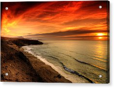 Red Serenity Sunset Acrylic Print