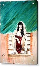 Red Sexy Passion Acrylic Print by Shlomo Zangilevitch