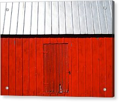 Red Shed Acrylic Print by Sheryl Burns