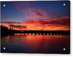 Red Shine Sunset Acrylic Print