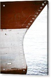 Red Ship Acrylic Print by Frank Tschakert