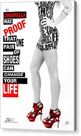 Red Shoes Acrylic Print by Fussgangerfoto