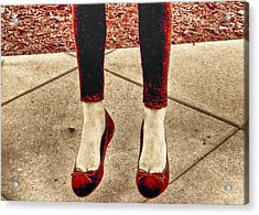 Red Shoes Acrylic Print by Kristina Deane