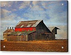 Red Side Barn Acrylic Print by Marty Koch