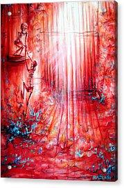 Red Skeleton Gate Acrylic Print
