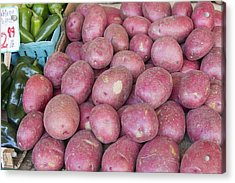 Red Skin Potatoes Stall Display Acrylic Print by Jit Lim