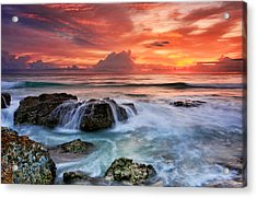 Red Sky At Dawn Acrylic Print