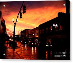 Red Sky At Dusk Acrylic Print by   Joe Beasley