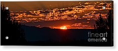 Acrylic Print featuring the photograph Red Sky At Morning by Barbara Dudley