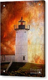 Red Sky At Morning - Nubble Lighthouse Acrylic Print