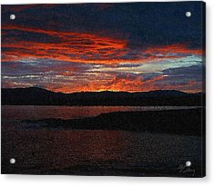 Red Sky At Night Acrylic Print by Bruce Nutting