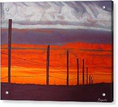Red Sky At Night Acrylic Print by Harvey Rogosin