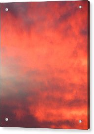 Red Sky At Night Acrylic Print by Laurel Powell