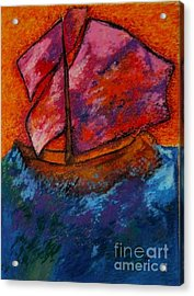 Red Sky At Night Sailors Delight Acrylic Print