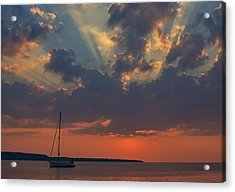 Red Sky At Night - Simcoe Acrylic Print by Pat Speirs