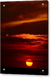 Red Sky At Night Vertical Acrylic Print