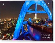 Red Sky Bar In Bangkok Thaila Acrylic Print by Fototrav Print