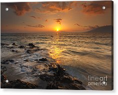 Red Sky In Paradise Acrylic Print