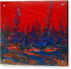 Red Sky Night Acrylic Print