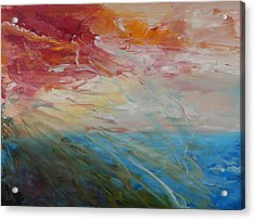 Acrylic Print featuring the painting Red Sky by Sandra Nardone