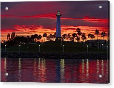 Red Skys At Night Denise Dube Photography Acrylic Print by Denise Dube