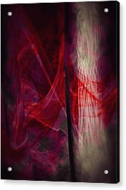 Red Smoke Acrylic Print by Dennis James
