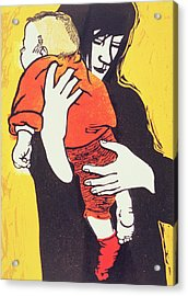Red Sock Acrylic Print by Carol Walklin