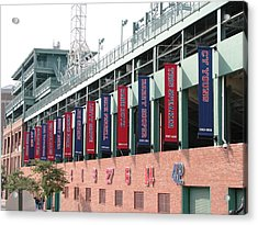 Red Sox Heroes Acrylic Print by Sue  Thomson