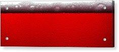 Red Sparkling Wine Acrylic Print by Steve Gadomski