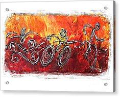 Red Splash Triathlon Acrylic Print by Alejandro Maldonado