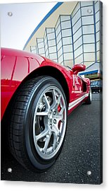Red Sport Car Wheel  Acrylic Print by Ioan Panaite