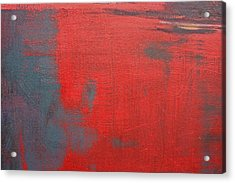 Red Square Dissected Viii  C2010 Acrylic Print by Paul Ashby