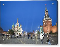 Red Square Acrylic Print