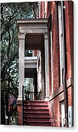 Red Stairs Acrylic Print by John Rizzuto