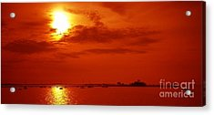 Red Star Above The Sea Acrylic Print by Jay Martin