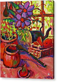 Red Still Life Acrylic Print by Brian Simons