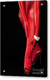 Red Stockings02 Acrylic Print by Svetlana Sewell