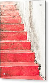 Red Stone Steps Acrylic Print by Tom Gowanlock