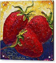 Red Strawberries II Acrylic Print by Paris Wyatt Llanso