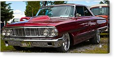 Acrylic Print featuring the photograph Red Street Car Rod by Mick Flynn