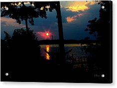 Acrylic Print featuring the photograph Red Sun by James C Thomas