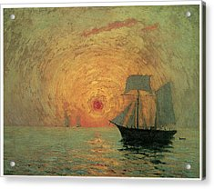 Red Sun Acrylic Print by Maxime Maufra